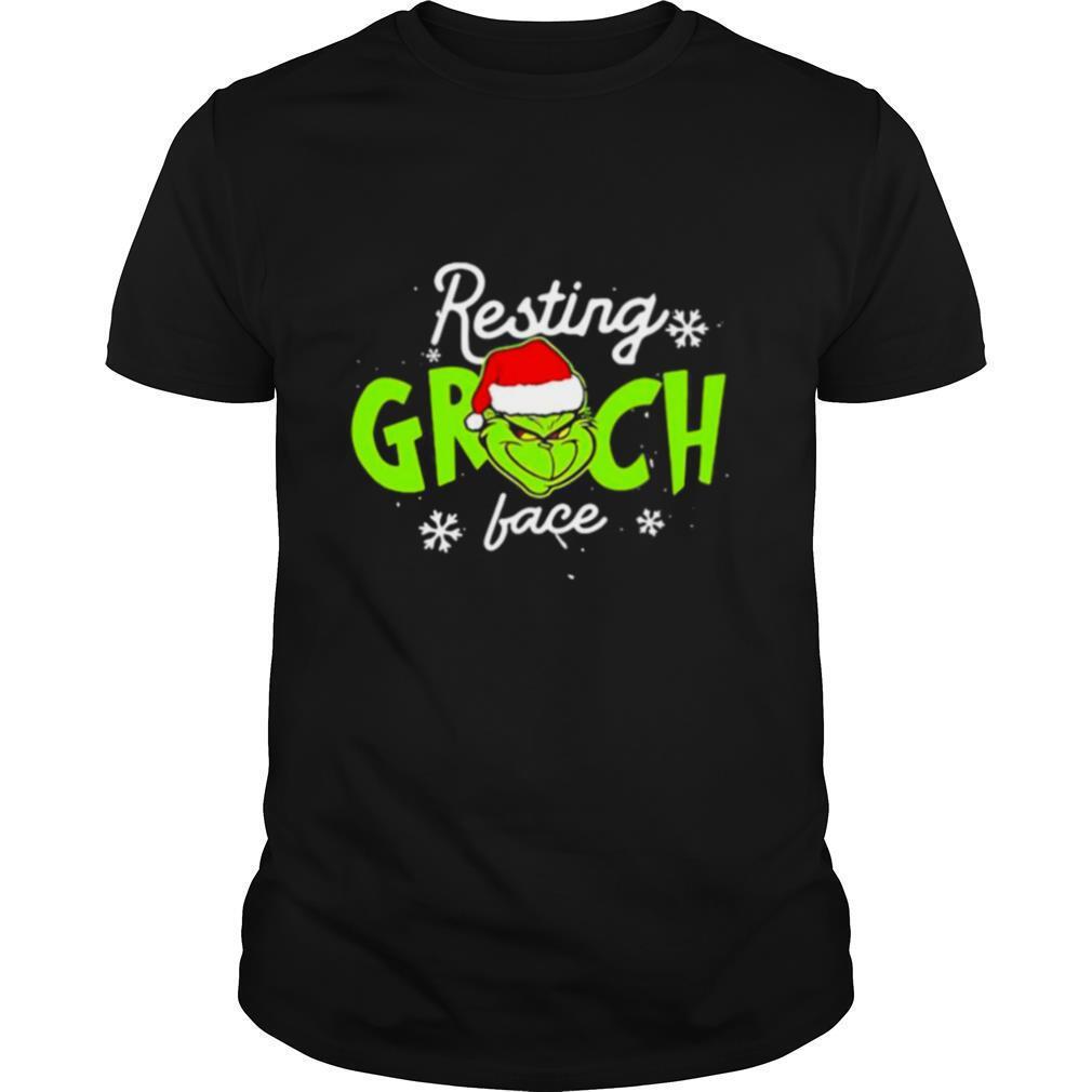 Resting Grinch Face Merry Christmas shirt Classic Men's