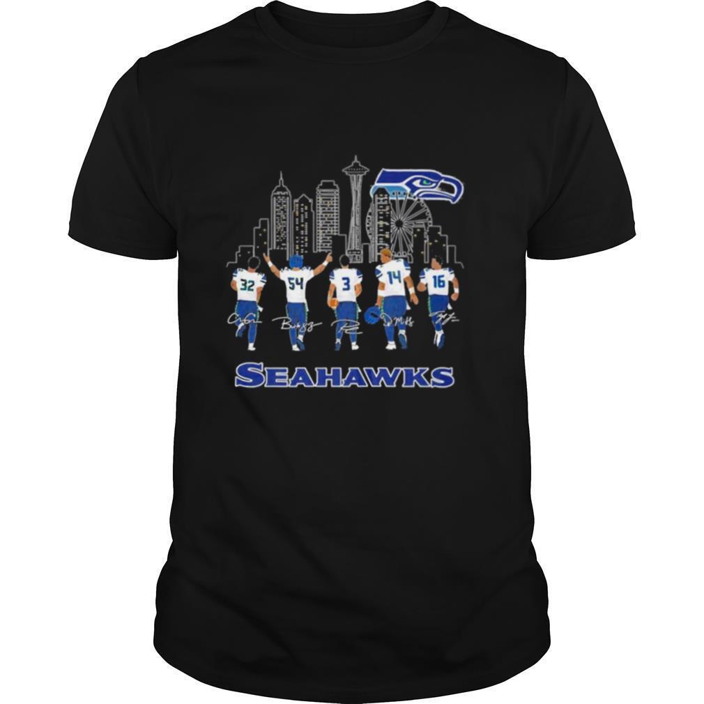 Seahawks signatures shirt Classic Men's