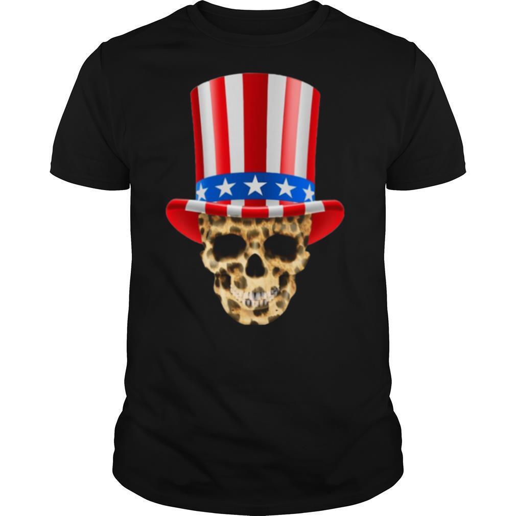 Skull Uncle Sam Hat American Flag 4th Of July shirt Classic Men's