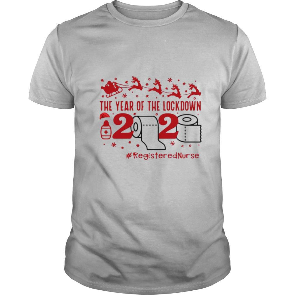 The Year Of The Lockdown 2020 #RegisteredNurse Ugly Christmas shirt Classic Men's