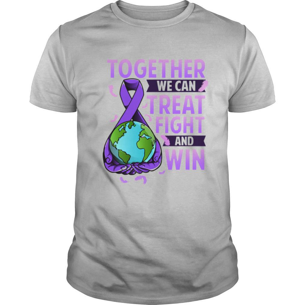 Together we can treat fight and win World Cancer Day Cancer Awareness Fight Against Cancer shirt Classic Men's