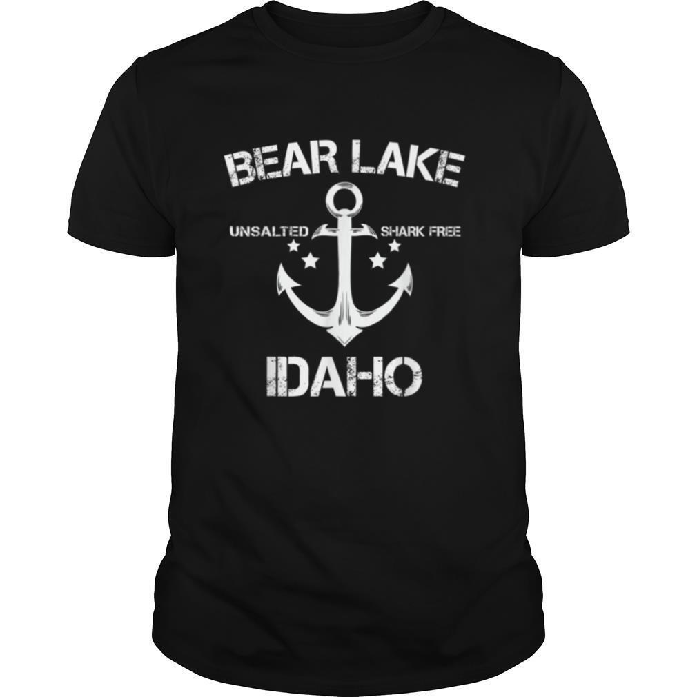 BEAR LAKE IDAHO Funny Fishing Camping Summer Gift T shirt Classic Men's
