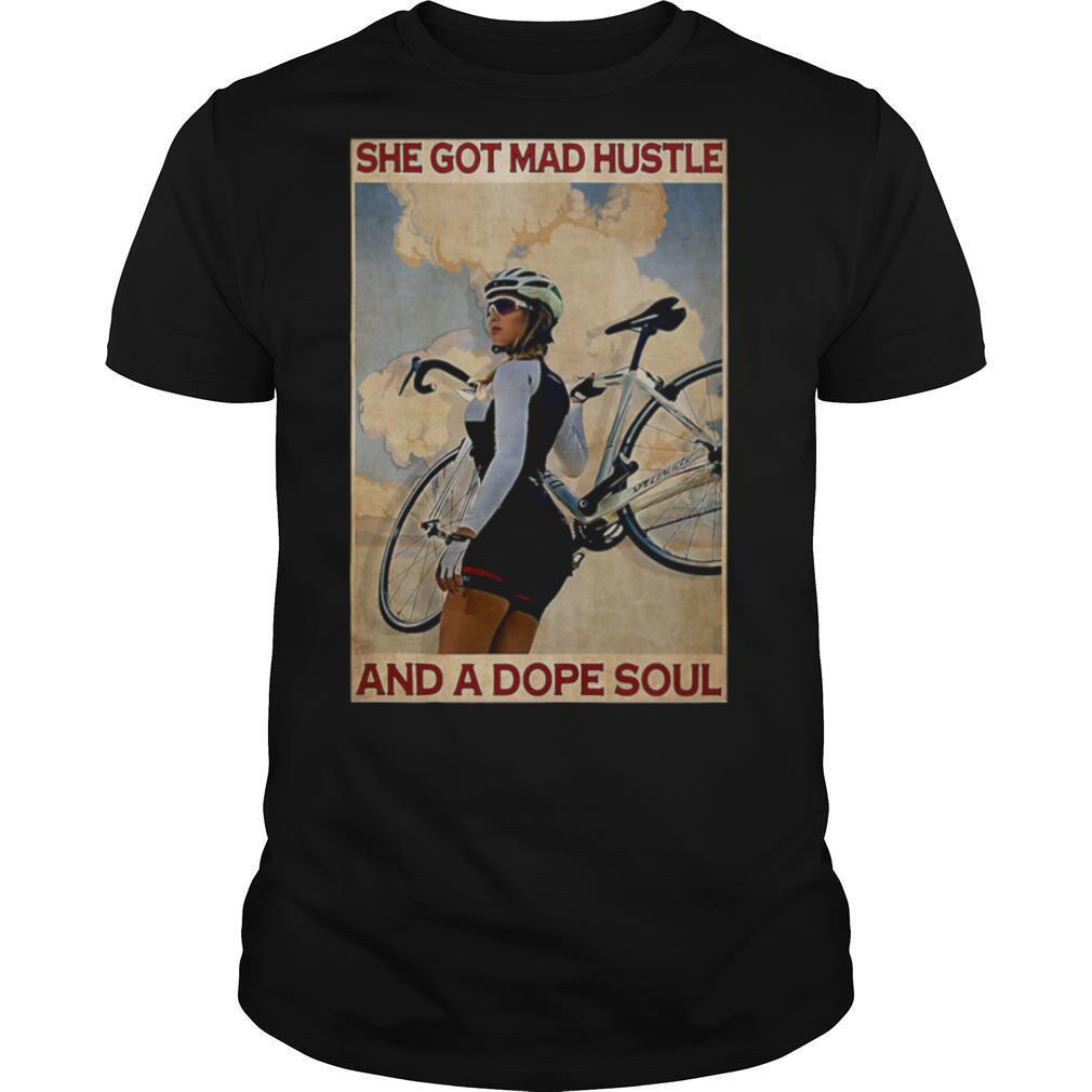 Cycling she god mad hustle and a dope soul shirt Classic Men's