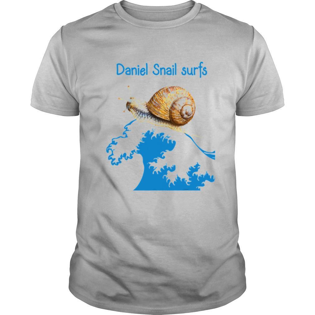 Daniel Snail Surfs Cute Snail Surfer Dude shirt Classic Men's