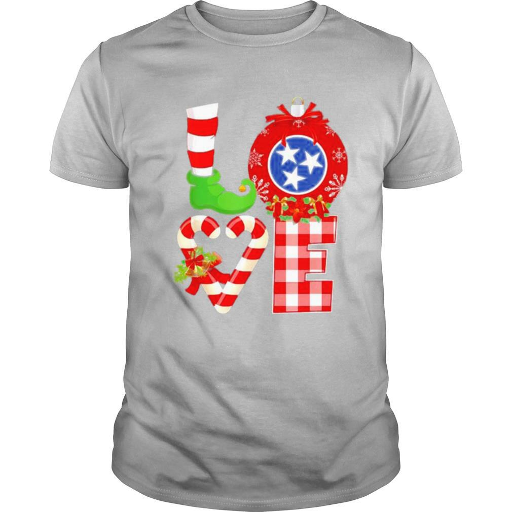 Love flag of Tennessee State Christmas shirt Classic Men's