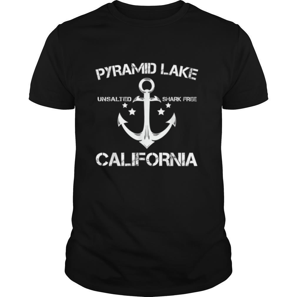 PYRAMID LAKE CALIFORNIA Funny Fishing Camping Summer Gift T shirt Classic Men's