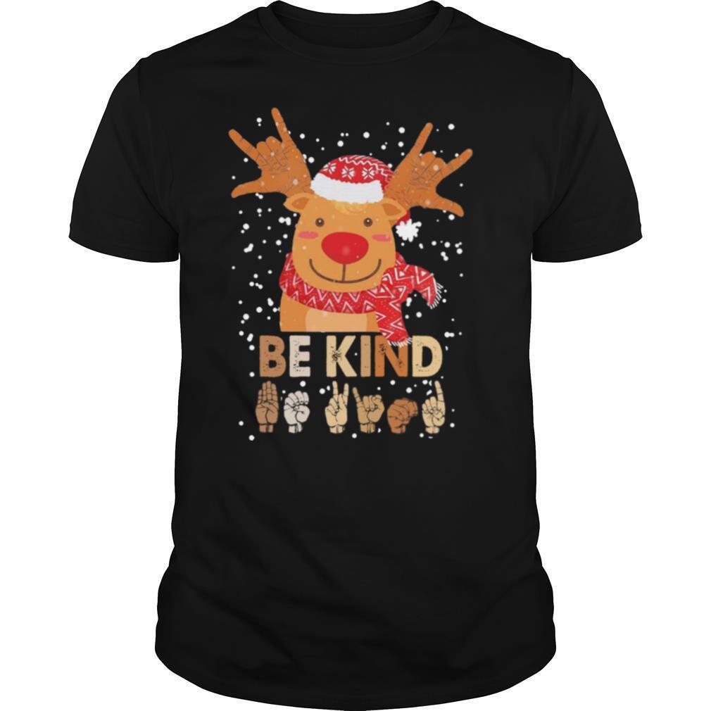 Reindeer Santa Be Kind Christmas shirt Classic Men's