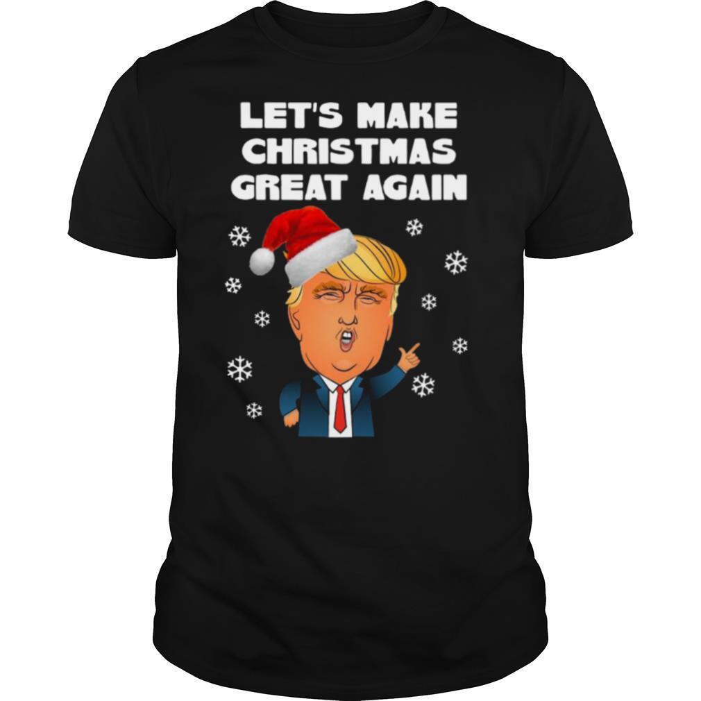 Santa Donald Trump Lets Make Christmas Great Again shirt Classic Men's
