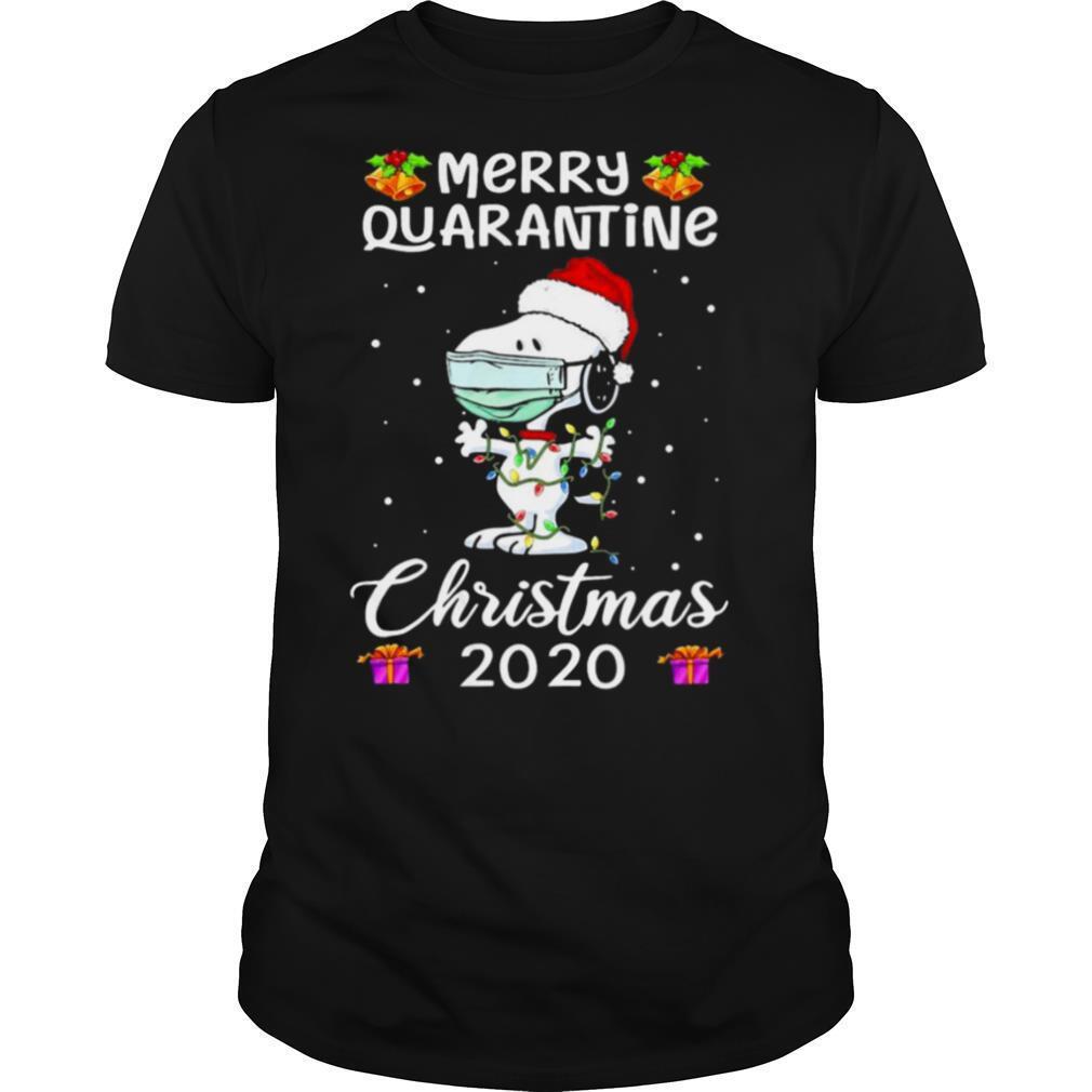 Snoopy face mask Merry Quarantine Christmas 2020 shirt Classic Men's