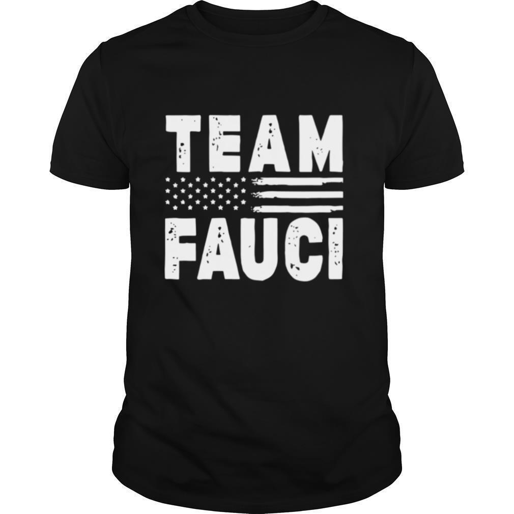 Team Fauci Face Mask American Flag shirt Classic Men's