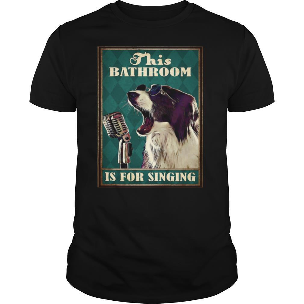 This bathroom is for singing dog glasses shirt Classic Men's