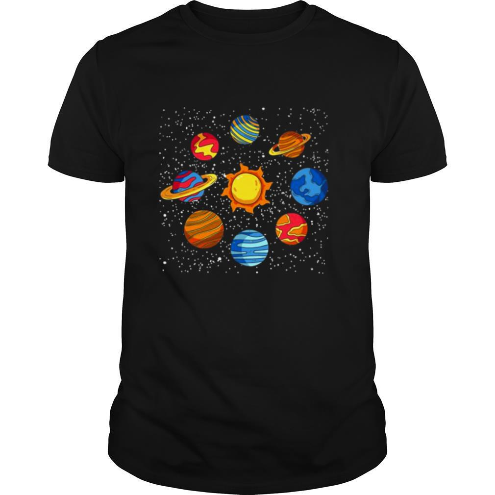 Universe Planets Gift Idea Science Lover Astronomy shirt Classic Men's