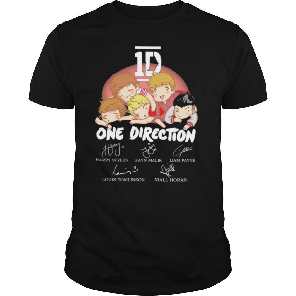1D One Direction Chibi Signatures shirt Classic Men's