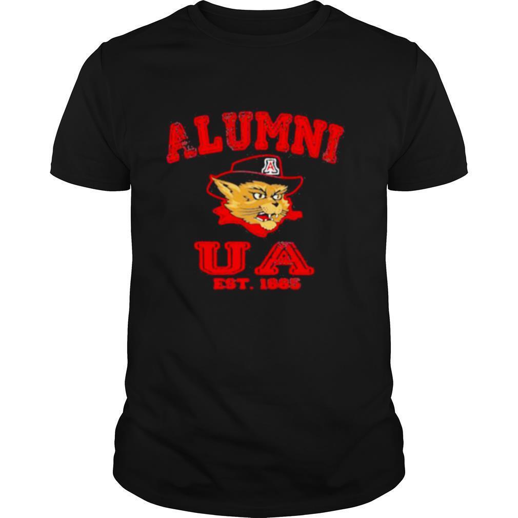 Alumni Ua Est 1885 Man Wildcat Hat Black shirt Classic Men's