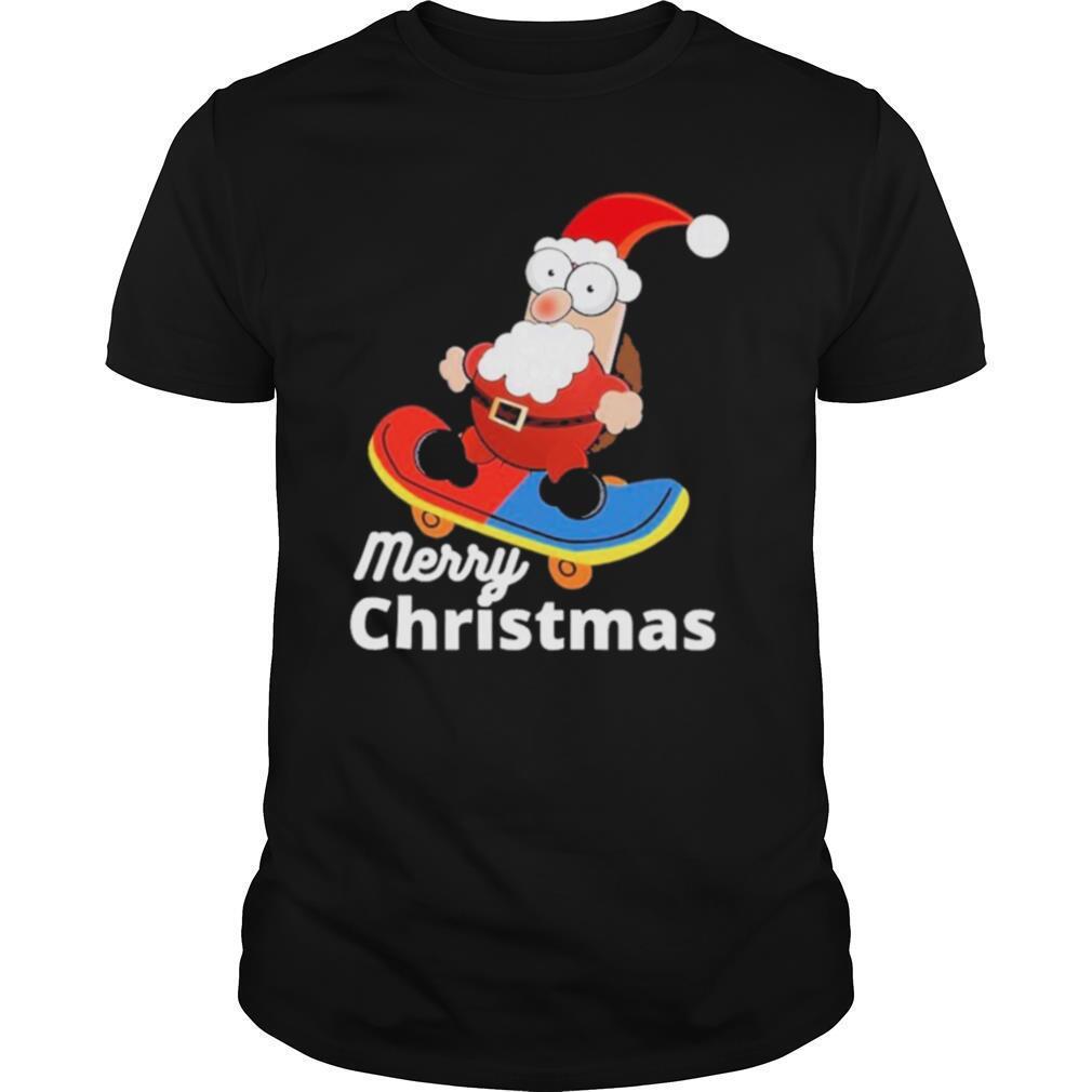 Christmas skateboarding santa shirt Classic Men's