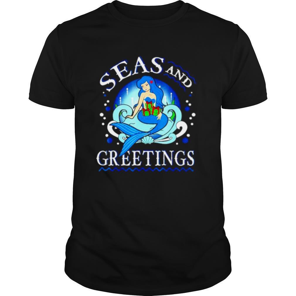 Mermaid seas and greetings Christmas shirt Classic Men's