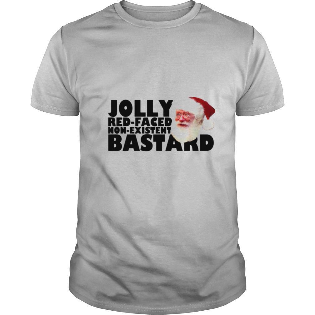 Santa Jolly Red Faced Non Existent Bastard shirt Classic Men's