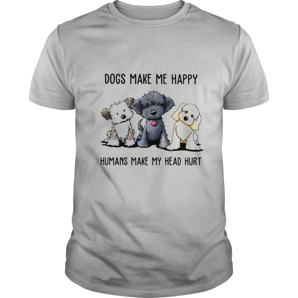 Shih Tzu Dogs Make Me Happy Humans Make My Head Hurt shirt Classic Men's