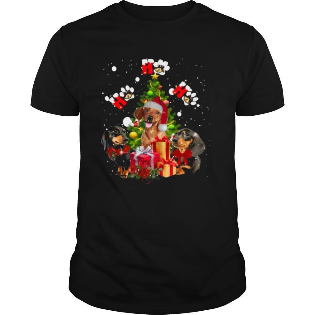 Dachshund Ho Ho Ho Christmas Tree shirt Classic Men's