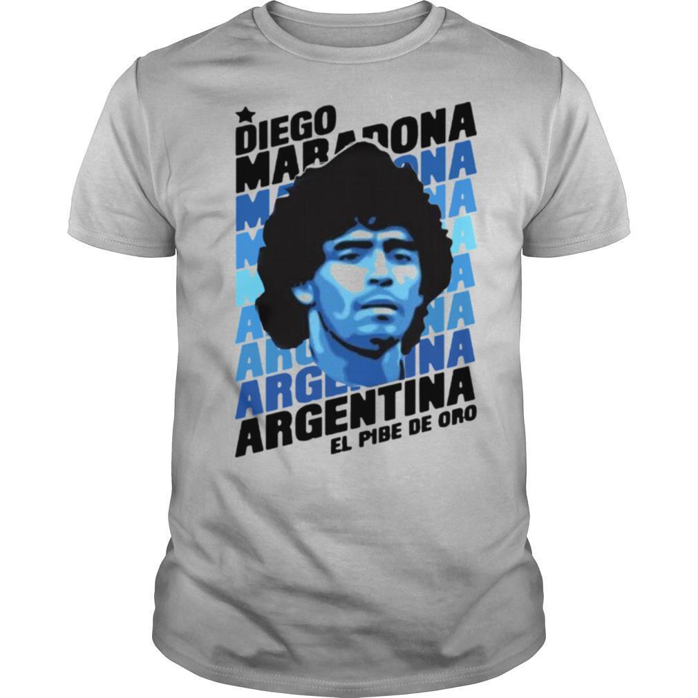 Diego Maradona Argentina El Pibe De Oro shirt Classic Men's
