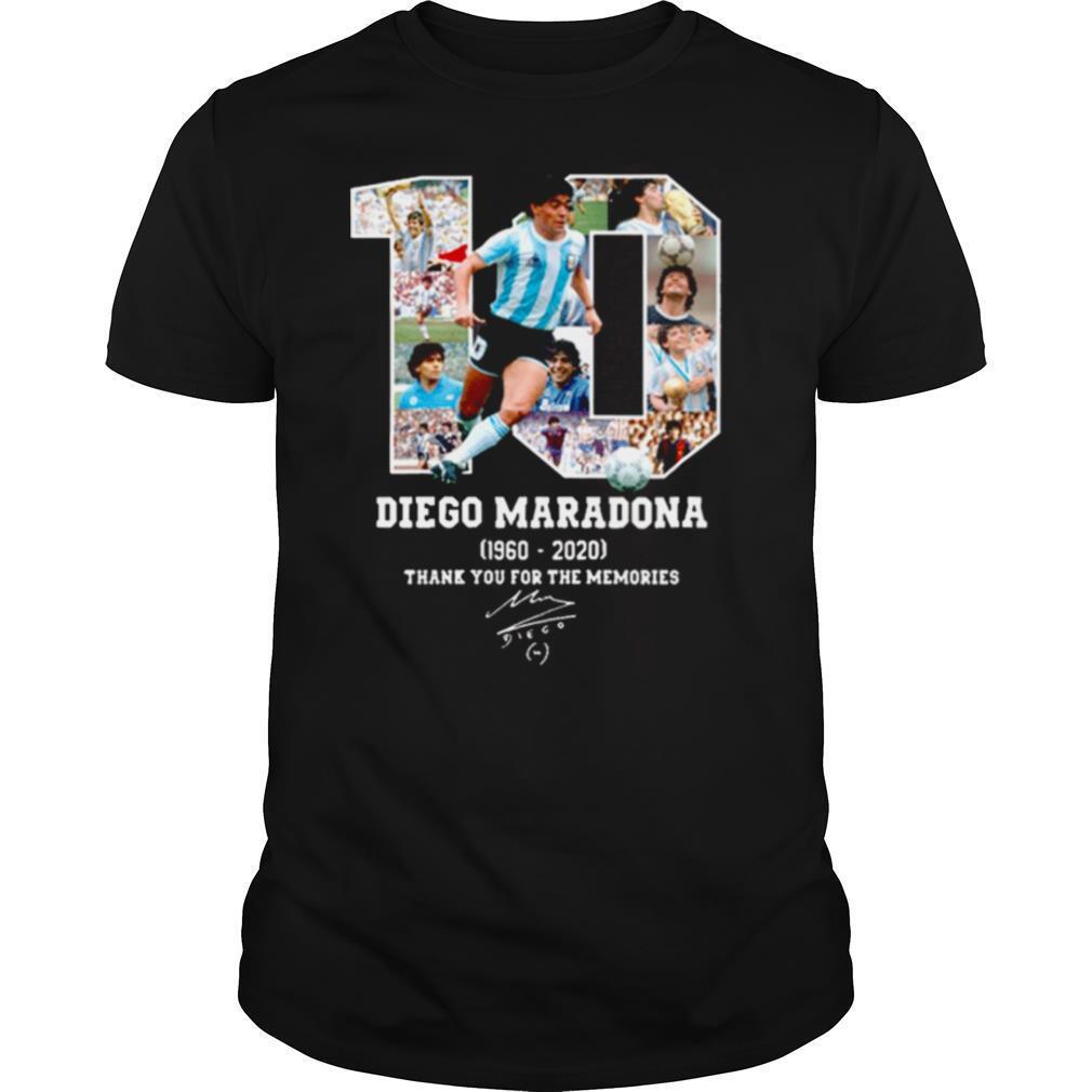 Diego Maradona Thank You For The Memories 1960 2020 shirt Classic Men's