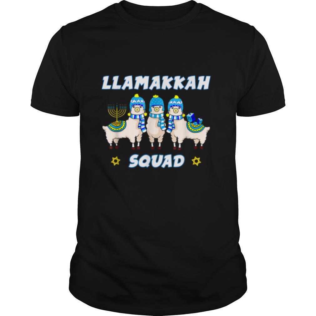 Llamakkah Squad Jewish Hanukkah Llama shirt Classic Men's