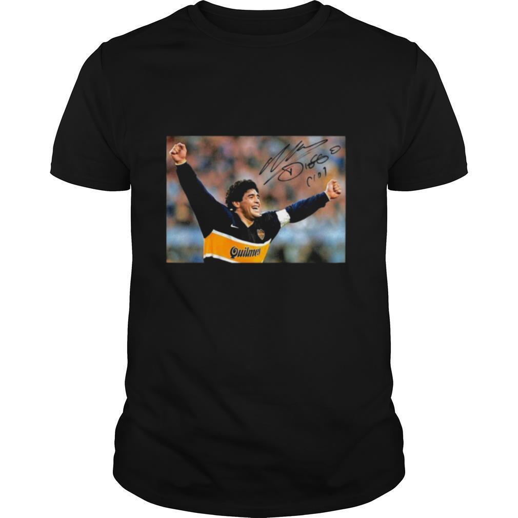 RIP Diego Maradona 1960 2020 Legend Never Die Signature shirt Classic Men's