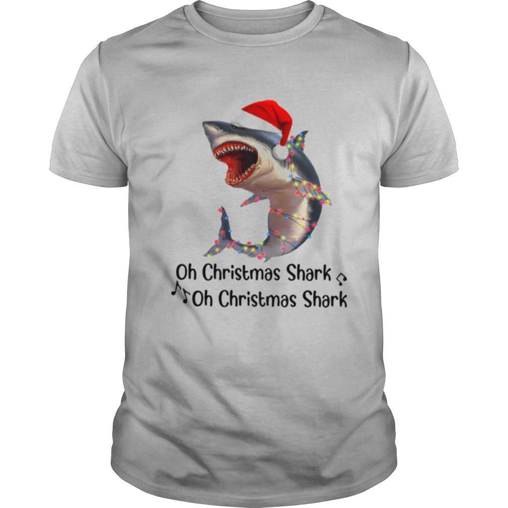 Shark Santa Light Oh Christmas Shart Oh Christmas Shark shirt Classic Men's
