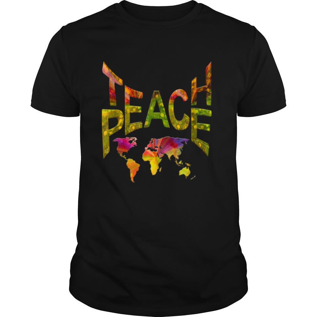 TeachPeace Around the Globe shirt Classic Men's