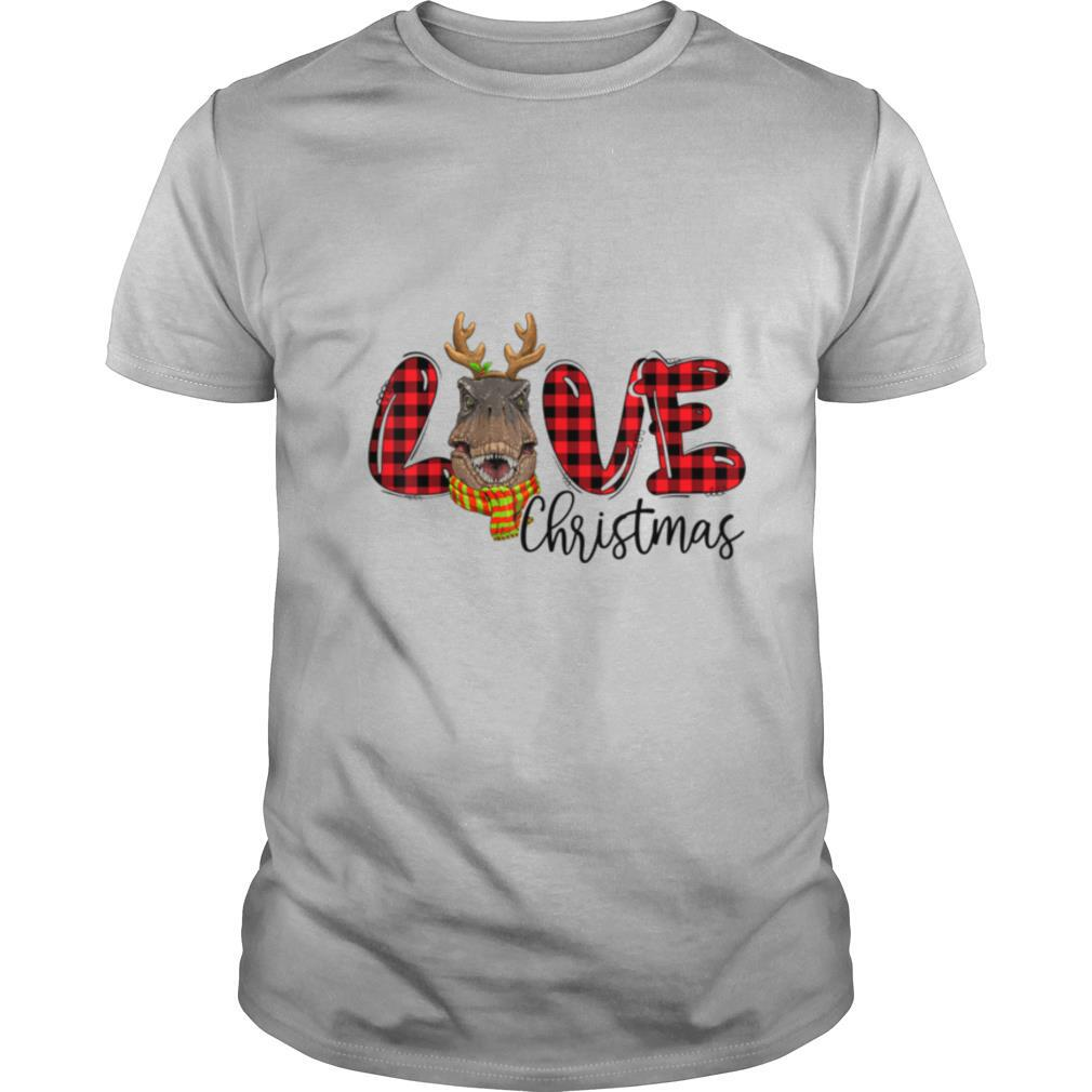 TRex Christmas Red Plaid Christmas Pajama Family shirt Classic Men's