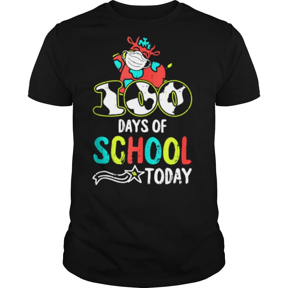 100 Days Of School Today Cow Print Face Mask Quarantine shirt Classic Men's