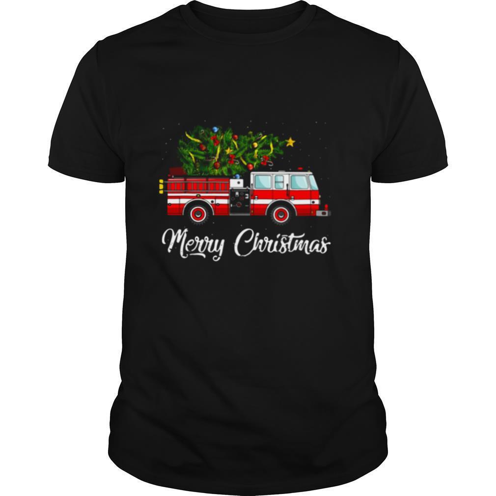 Firefighter Merry Christmas shirt Classic Men's