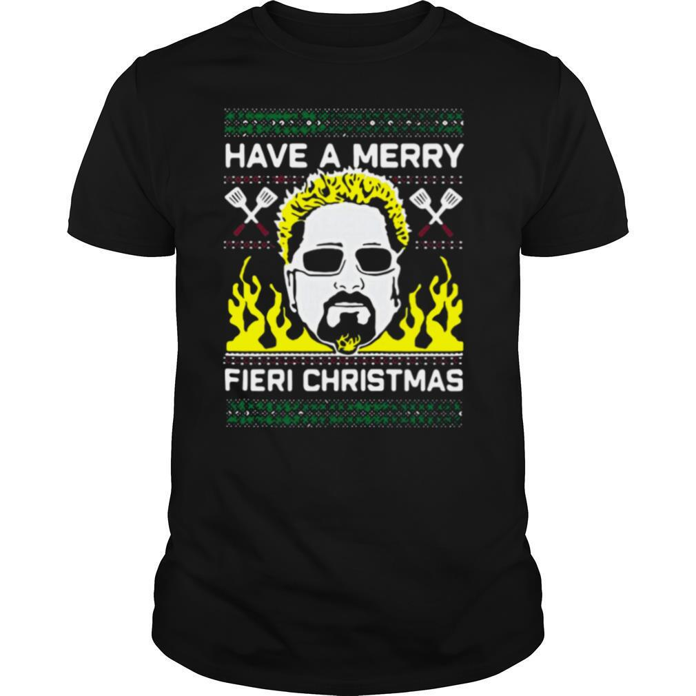 Have A Merry Fieri Ugly Christmas Sweater shirt Classic Men's