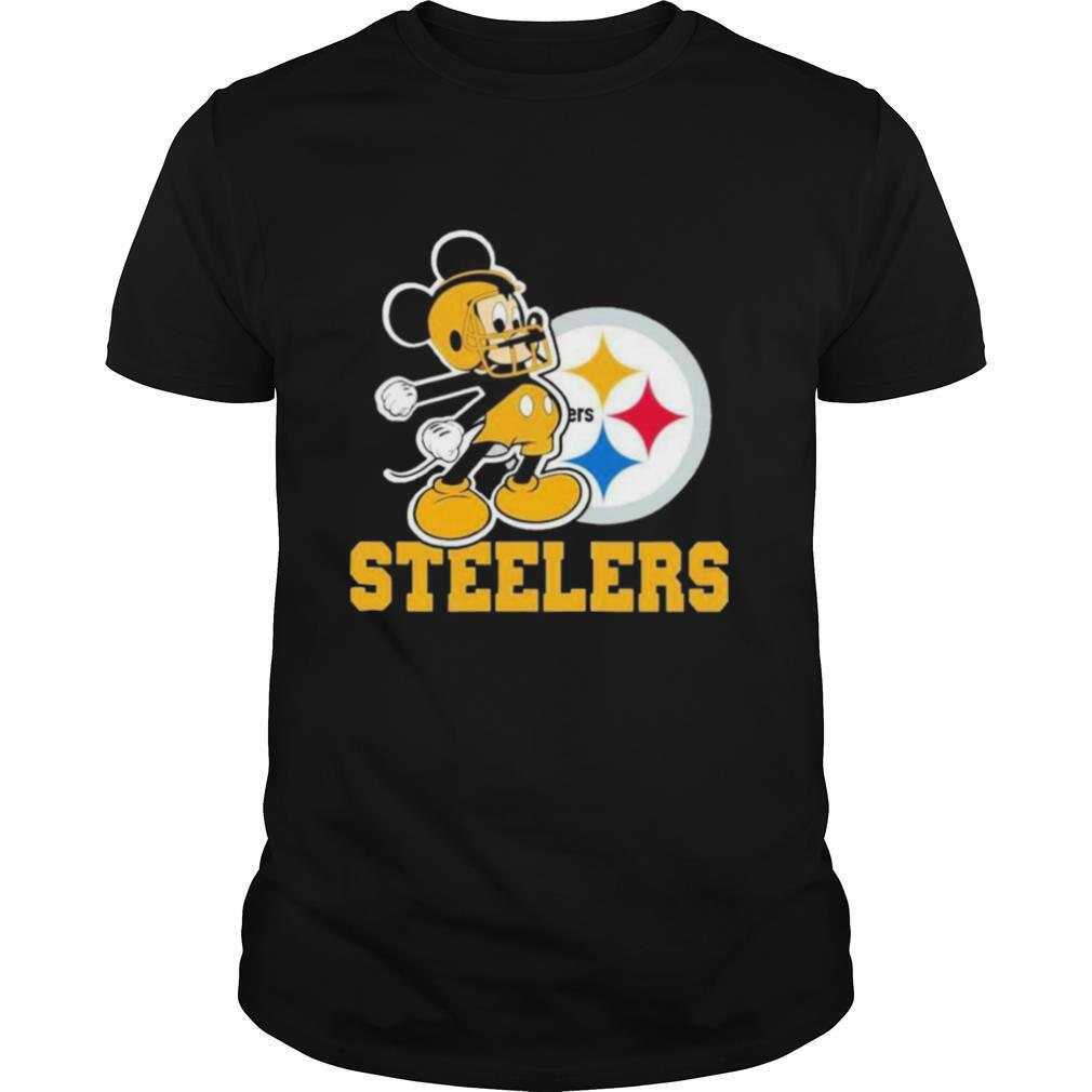 Mickey Mouse Pittsburgh Steelers Football Logo Team shirt Classic Men's