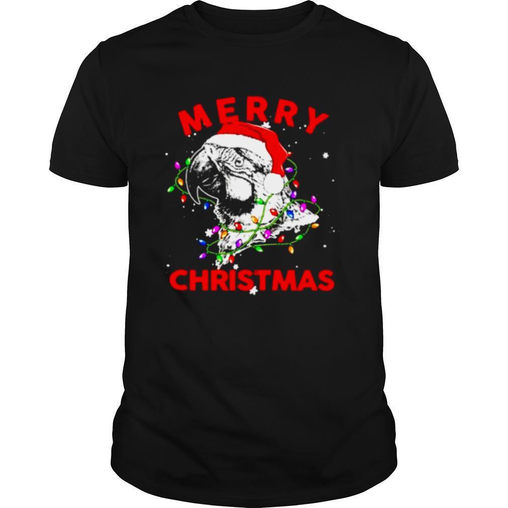 Parrot Santa lights Merry Christmas shirt Classic Men's