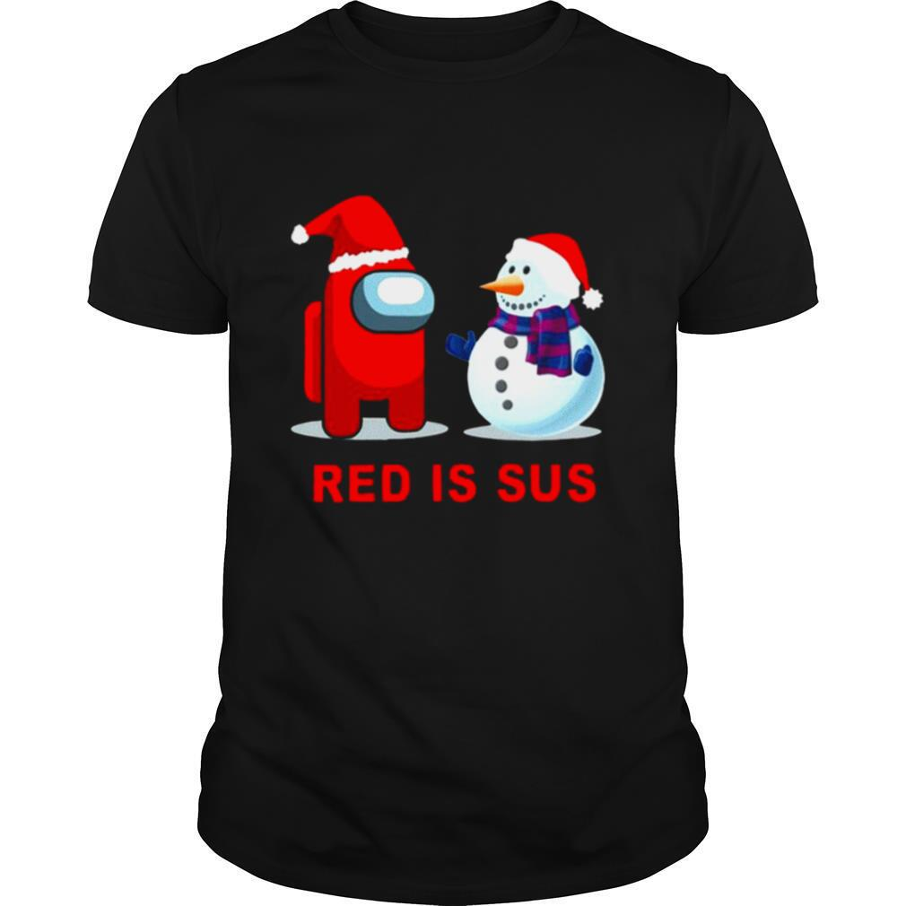 Red Is Sus Among Us Christmas Game Among Us Xmax shirt Classic Men's