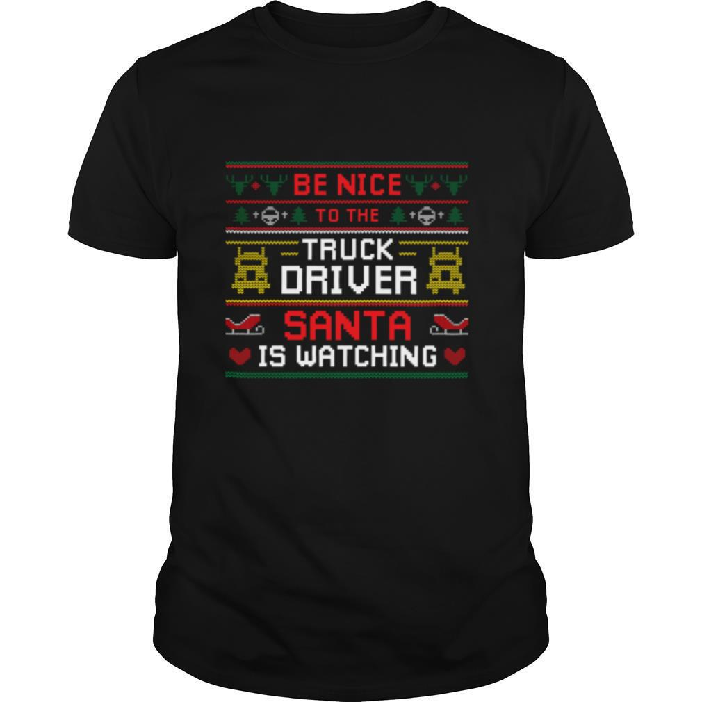 Santa Christmas Ugly Design For The Truck Drivers Ugly Sweater shirt Classic Men's