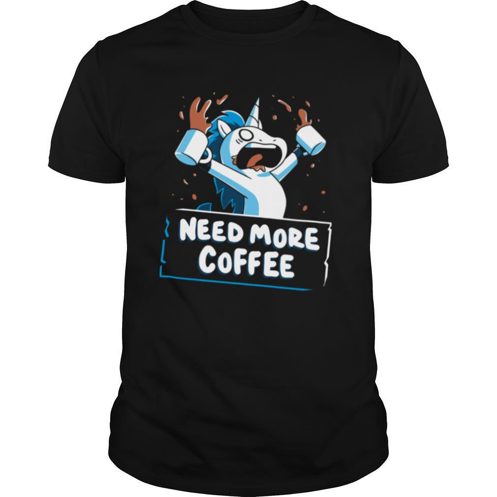 Unicorn Need More Coffee shirt Classic Men's