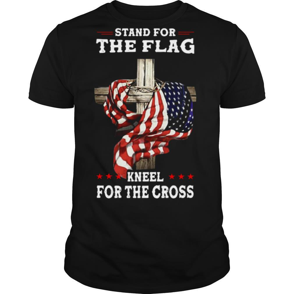 American Stand For The Flag Kneel Dot The Cross shirt Classic Men's