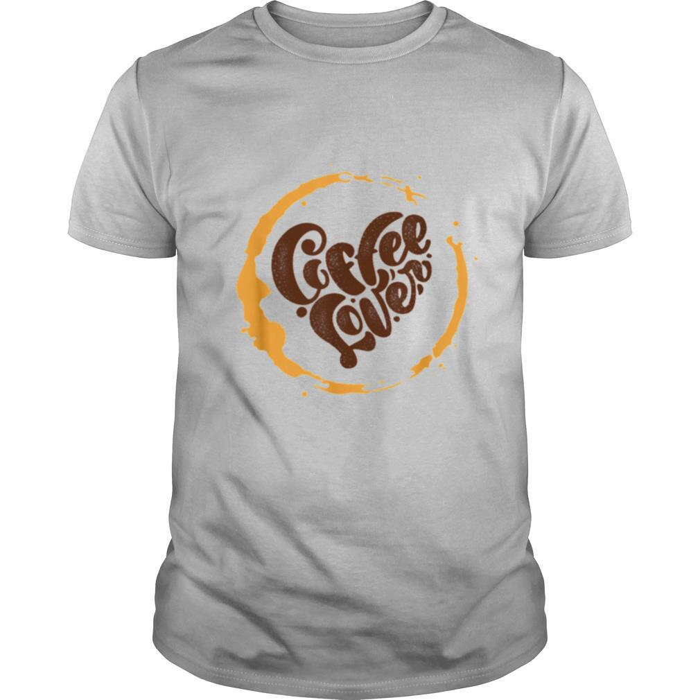 Coffee Lover Heart Distressed shirt Classic Men's