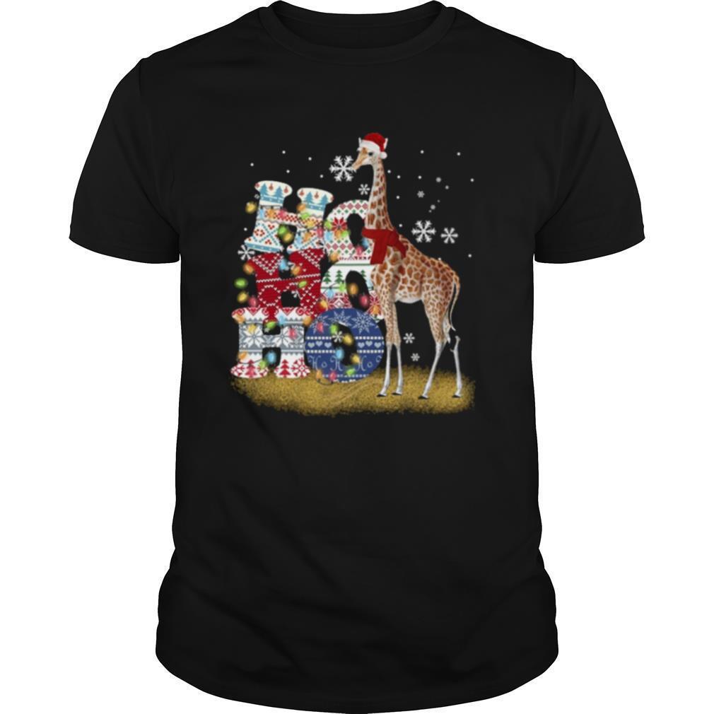Giraffe Ho Ho Ho Christmas shirt Classic Men's