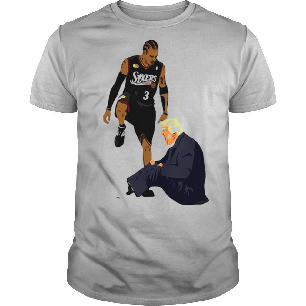 Allen Iverson Steps Over Donald Trump shirt Classic Men's
