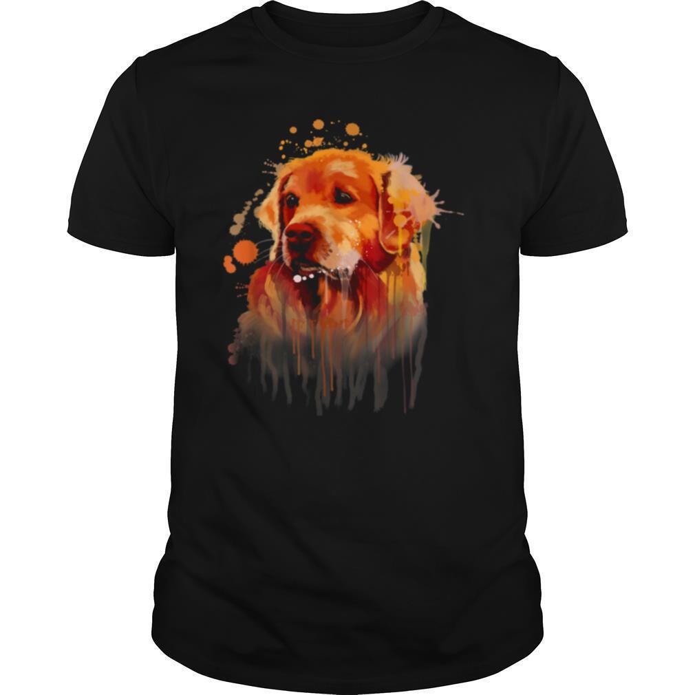 Golden Retriever Painting Dog Art Print shirt Classic Men's