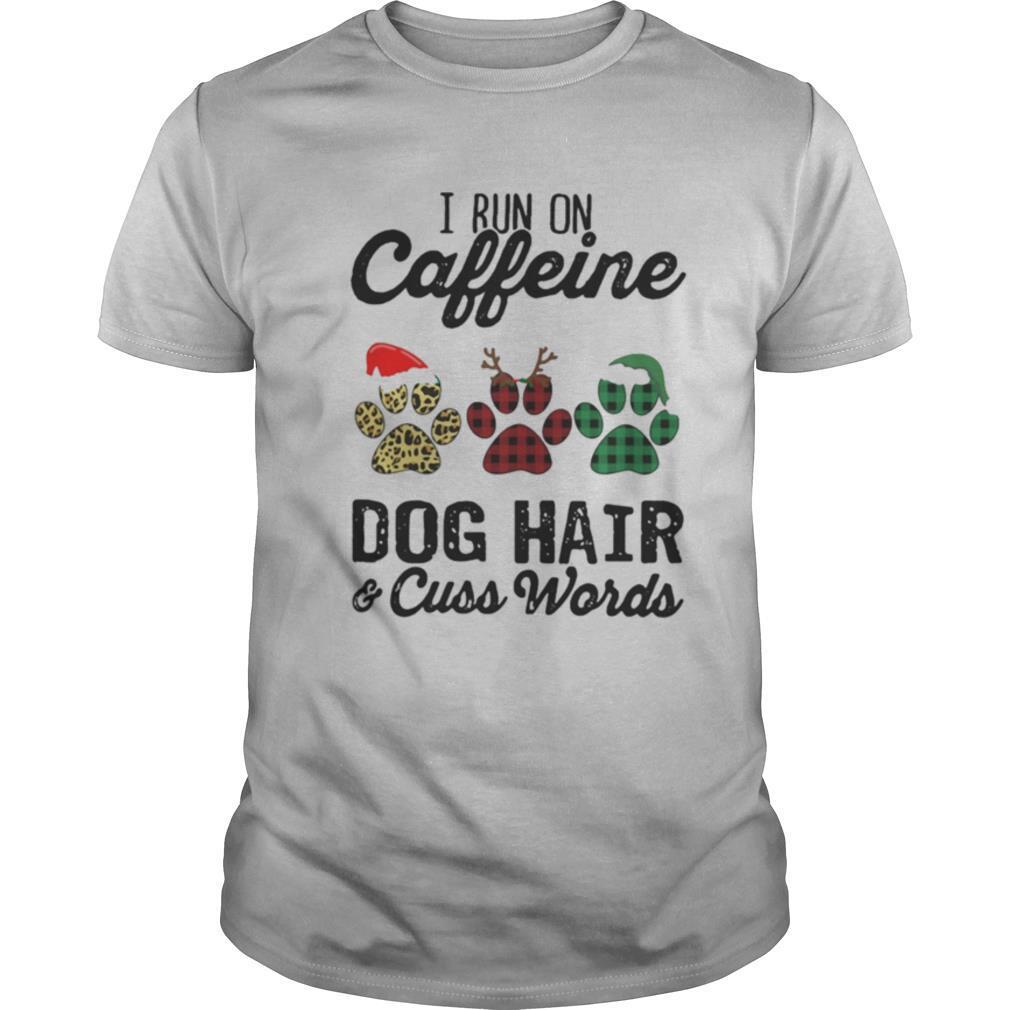 I Run Caffeine Dog Hair Cuss Words Hat Santa Xmas shirt Classic Men's