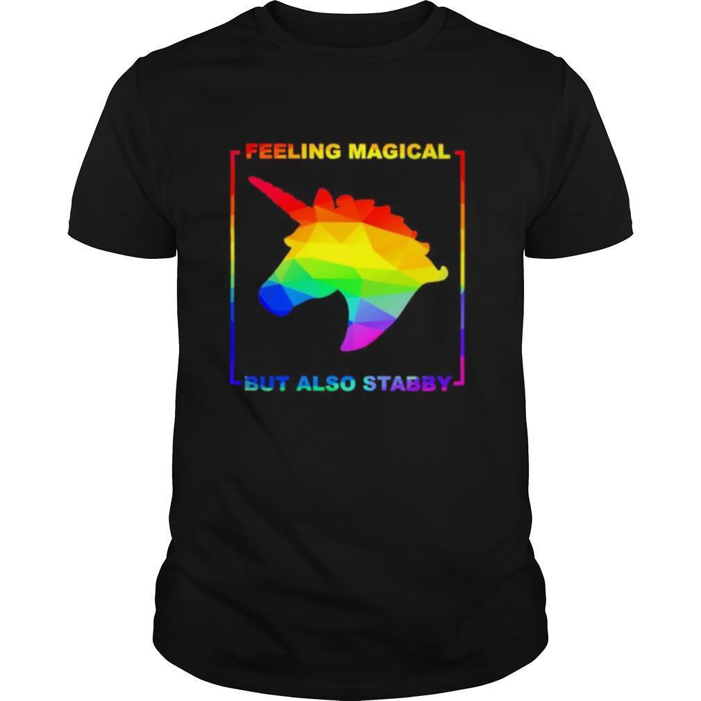LGBT unicorn feeling magical but also stabby shirt Classic Men's