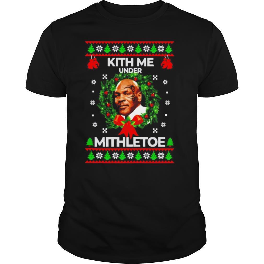 Mike tyson kith me under the mistletoe christmas shirt Classic Men's
