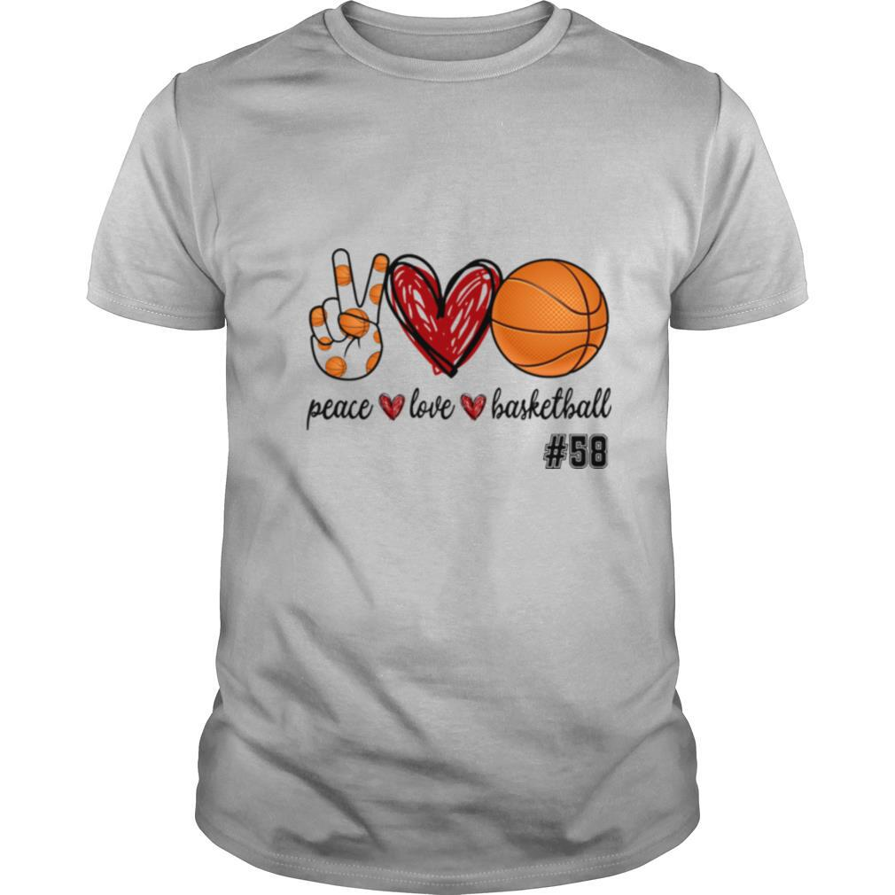 Peace Love Basketball #58 shirt Classic Men's