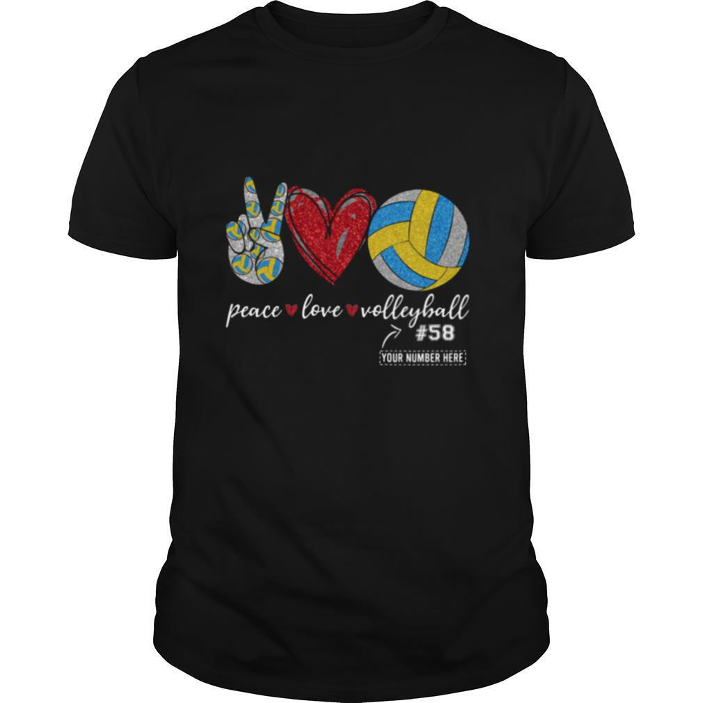 Peace Love Volleyball 58 shirt Classic Men's
