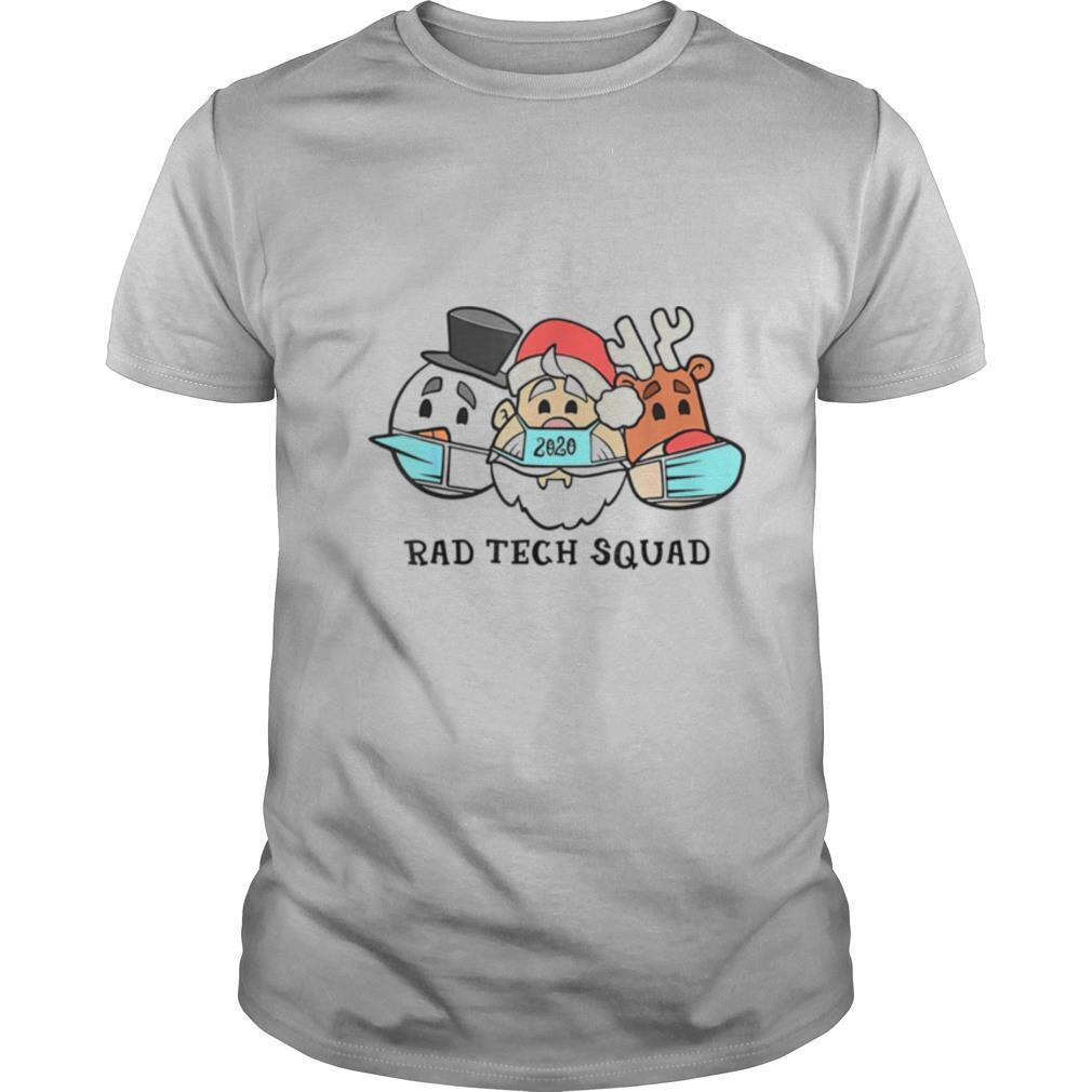 Santa Claus 2020 Rad Tech Squad Snow and Reindeer Wear Mask shirt Classic Men's
