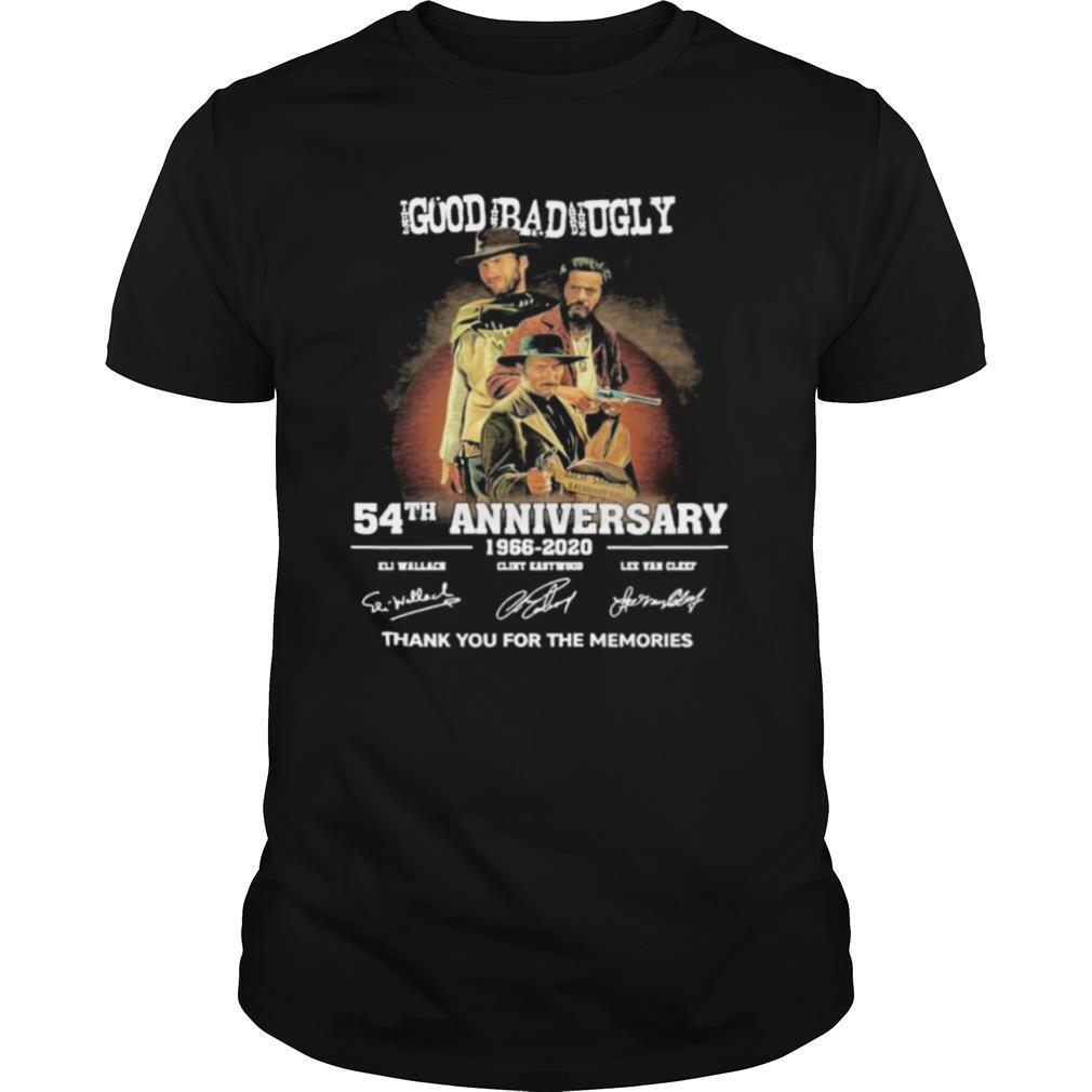 The Good The Bad The Ugly 54Th Anniversary 1966 2020 Thank You For The Memories Signatures shirt Classic Men's